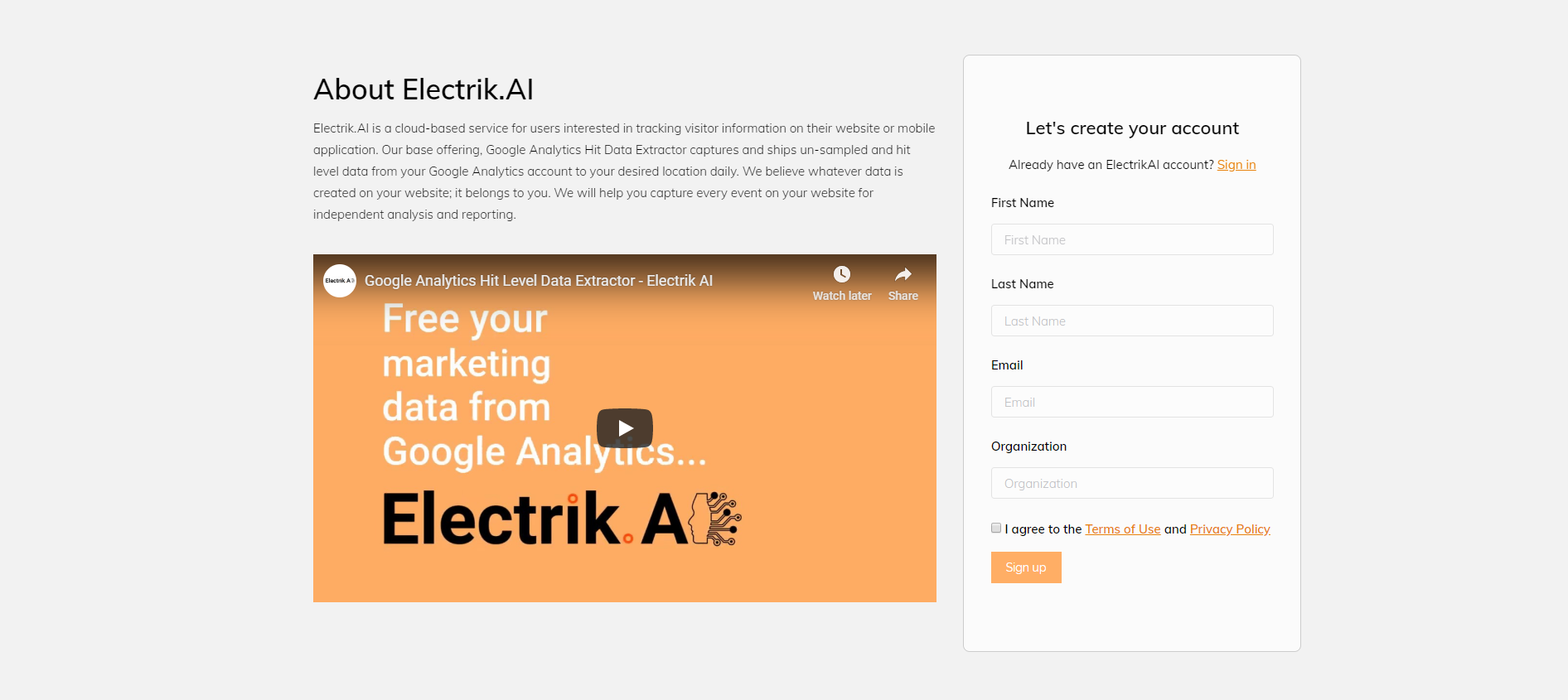Registration-Electrik.AI