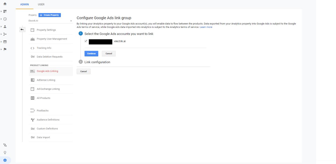 Link Google Ads to Google Analytics step 5-Electrik.AI