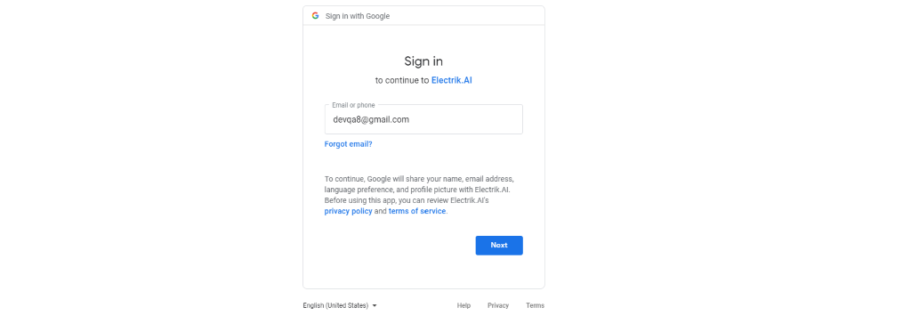 Step 7 Provide your Google Drive Password-ElectrikAI