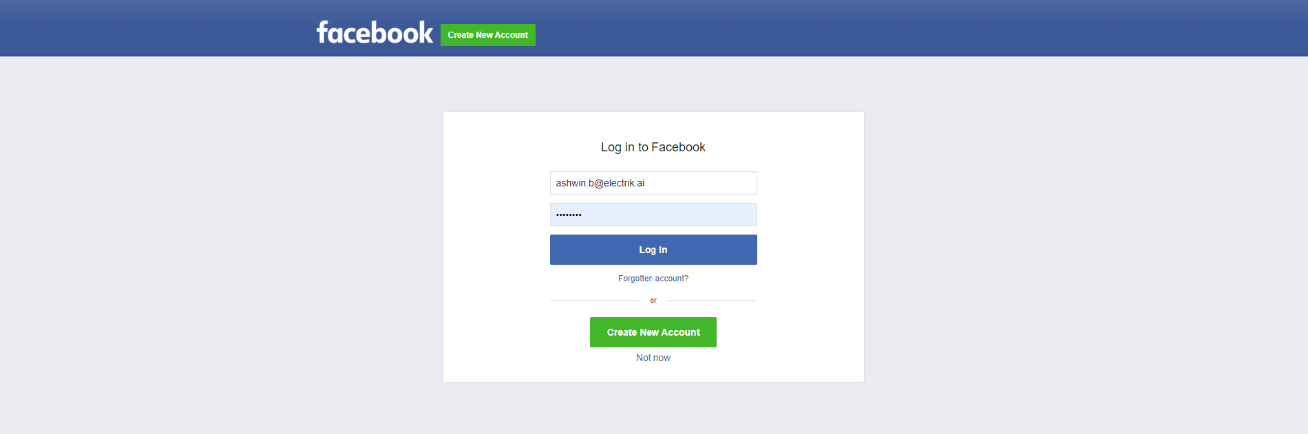 Step 7 Provide your Facebook Ads account User Id and Password-ElectrikAI