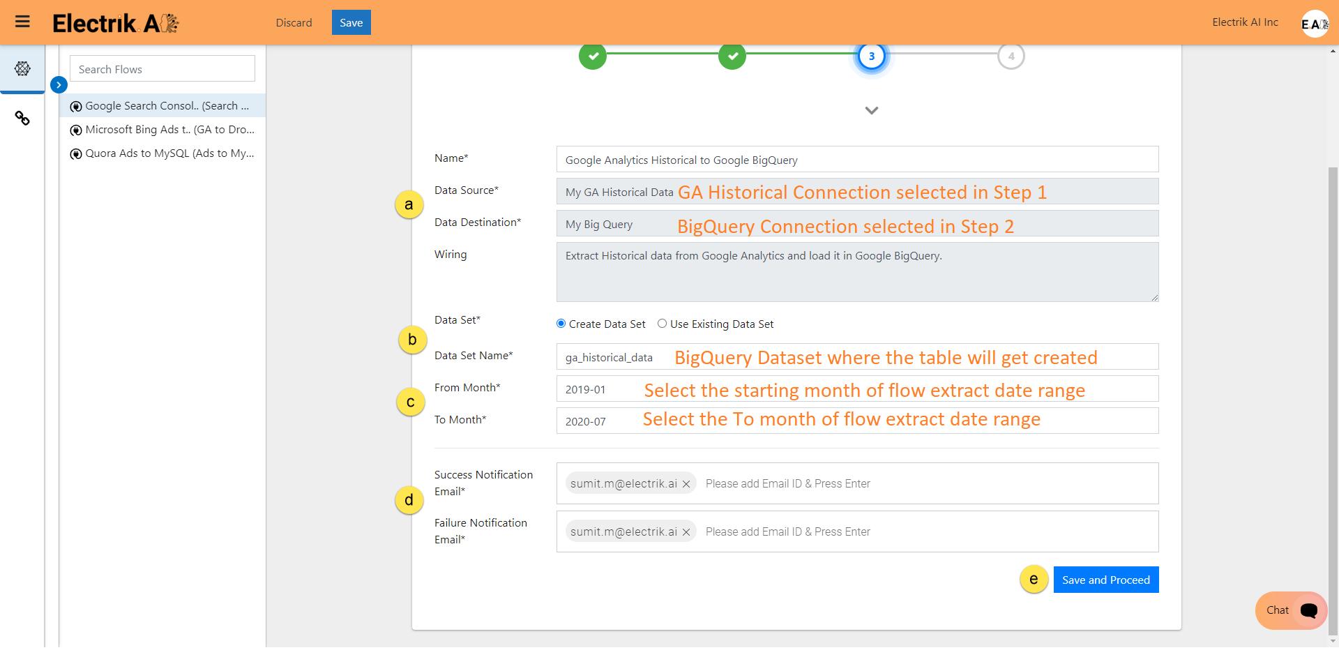 Step 9 Review the Data Source, Data Destination-ElectrikAI