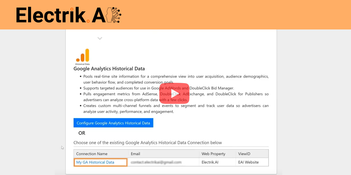 How to Export Google Analytics Historical Data to BigQuery with ElectrikAI
