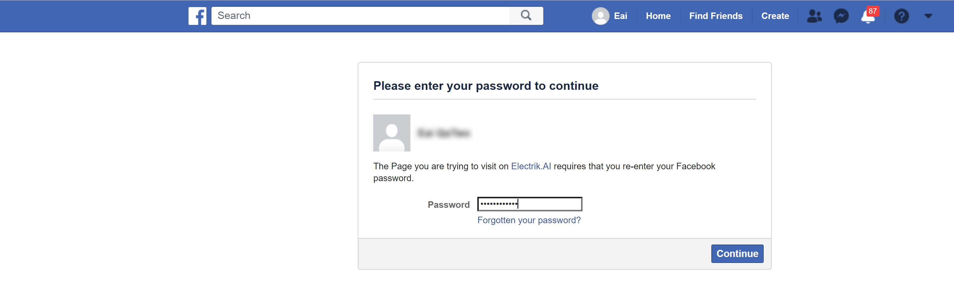 Provide your Facebook Page account User Id and Password.