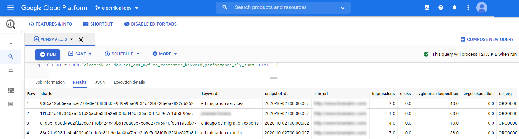 Your Bing Webmaster will start loading after 24 hours in your Data Warehouse